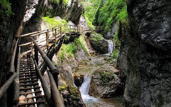 Rakousko: 1denní poznávací výlet pro 1 osobu do kaňonu Medvědí soutěska. Odjezd Čechy/Morava