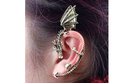 Náušnice ve tvaru draka - na celé ucho - dodání do 2 dnů