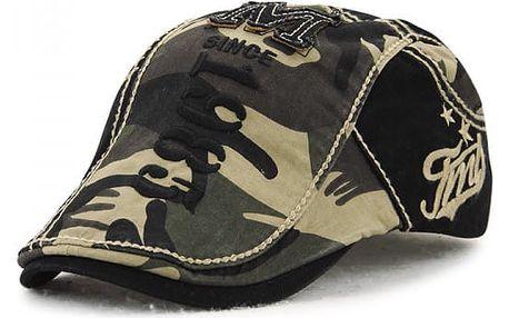 Nastavitelný unisex baret - Maskáčovaný