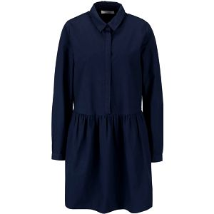 Tmavě modré košilové šaty s dlouhým rukávem VILA Saga