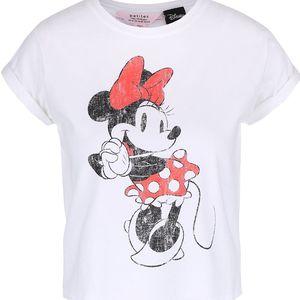Bílé tričko s potiskem Minnie Miss Selfridge Petites