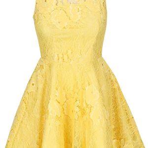 Žluté krajkové šaty AX Paris