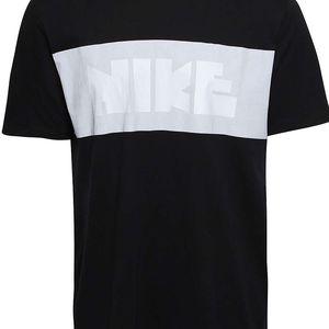 Černé pánské triko s bílým pruhem Nike DNA Block
