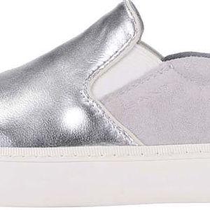 Dámské kožené slip-on tenisky ve stříbrné barvě GANT Alice