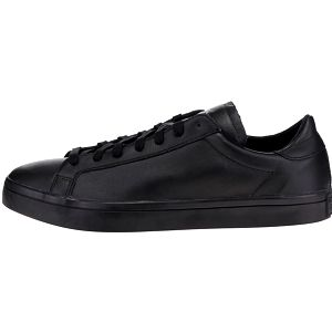 Černé pánské kožené tenisky adidas Originals Court Vantage