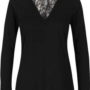 Černé dámské tričko s krajkou PEP Fabia