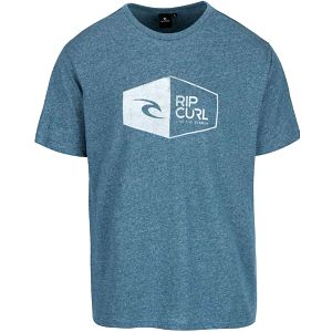 Modré žíhané pánské triko s potiskem Rip Curl 3D Icon SS Tee