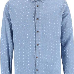 Modrá košile s puntíky !Solid Betwin