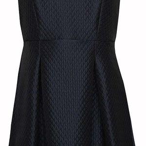 Tmavě modré vzorované šaty Wolf & Whistle