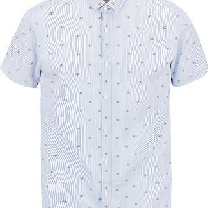 Modrá vzorovaná košile s krátkým rukávem Jack & Jones Mozz