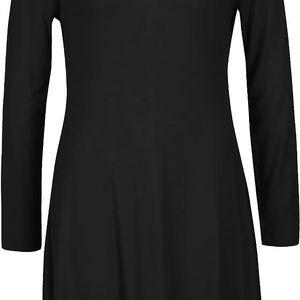 Tmavě šedé volnější šaty s dlouhým rukávem Segina b.young