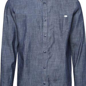 Tmavě modrá žíhaná denimová košile Jack & Jones Adam