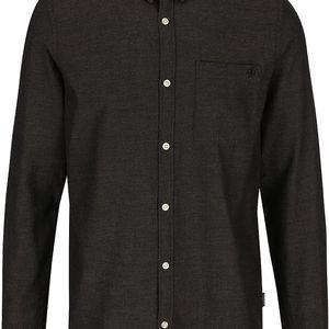 Tmavě hnědá žíhaná slim košile Jack & Jones Glit