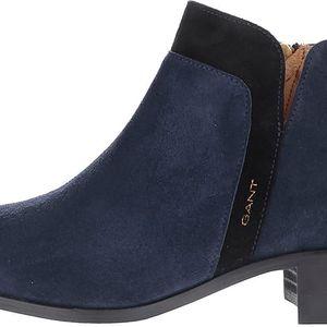 Tmavě modré dámské semišové kotníkové boty GANT Lisa