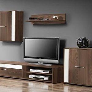 Moderní oblíbená obývací sestava Paco Light PCOM03 (platan)