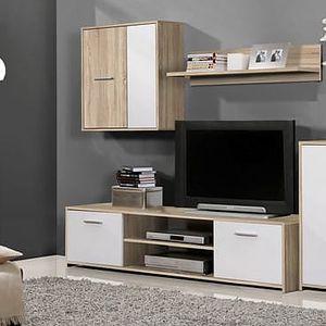 Nejoblíbenější obývací stěna Paco PCOM02-Q45F, dekor dub sonoma/bílá