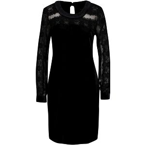 Černé šaty s krajkovými rukávy Hanida b.young