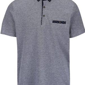 Krémovo-modré polo triko Burton Menswear London