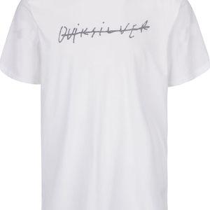 Bílé pánské triko s přeškrtnutým nápisem Quiksilver Garm