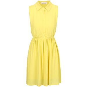 Žluté šaty s límečkem GINGER+SOUL