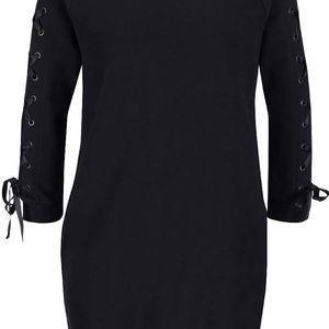 Černé krátké mikinové šaty Miss Selfridge