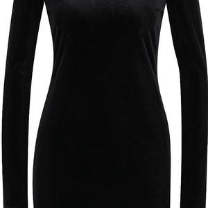 Černé sametové šaty s dlouhým rukávem Desires Gila