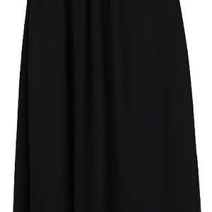 Černé dlouhé šaty s flitrovaným topem Little Mistress