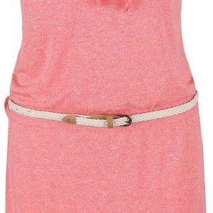 Korálové žíhané šaty Ragwear Chicka