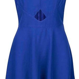 Modré šaty s průstřihem v pase Miss Selfridge