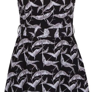Černé šaty s potiskem Mela London
