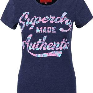 Tmavě modré dámské tričko s nápisem Superdry
