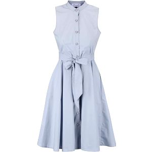 Šedomodré šaty bez rukávů a na knoflíky Closet