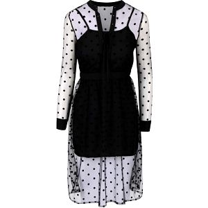 Černé šaty se síťovanou vrstvou Anna Smith