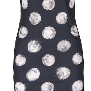 Černé puntíkované šaty bez rukávů Smashed Lemon