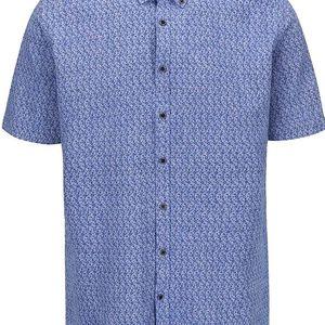 Modrá vzorovaná košile Lindbergh Dress Fit