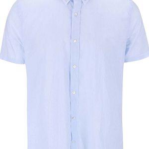 Modrá pruhovaná košile s krátkým rukávem J.Lindeberg Dani