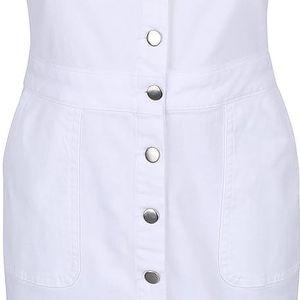 Bílé lacláčové šaty na knoflíky Dorothy Perkins