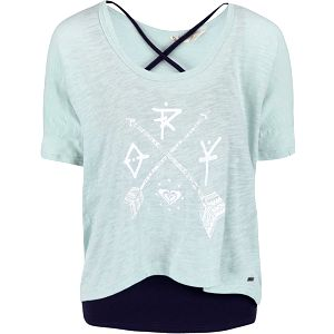 Mentolové tričko s tílkem Roxy Parson
