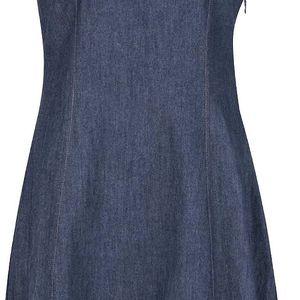 Modré denimové šaty bez rukávů Tranquillo Modi