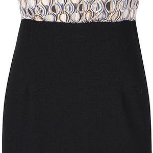 Hnědo-černé vzorované šaty se stojáčkem Smashed Lemon