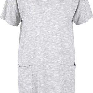 Šedé žíhané šaty s krátkým rukávem Bench