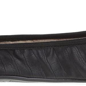 Černé vzorované balerínky do kabelky Butterfly Twists Francesca