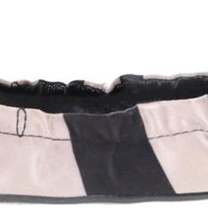 Béžovo-černé pruhované balerínky do kabelky Butterfly Twists Sloan