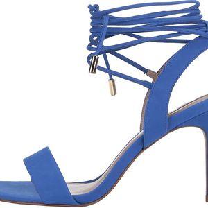 Modré kožené šněrovací sandálky ALDO Marilyn