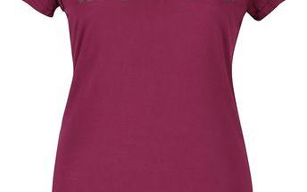 Fialové dámské tričko s potiskem Bench Expate