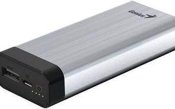 Power Bank Genius ECO-u527 5200 mAh (39800014101) stříbrná