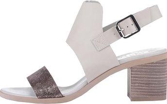 Šedé sandály se třpytivým páskem Bullboxer
