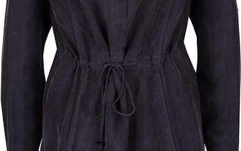 Fialovošedé košilové šaty s dlouhým rukávem gsus