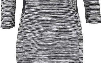 Šedé vzorované šaty PEP Fiona