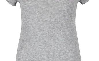 Šedé žíhané dámské tričko s potiskem Bench Expate